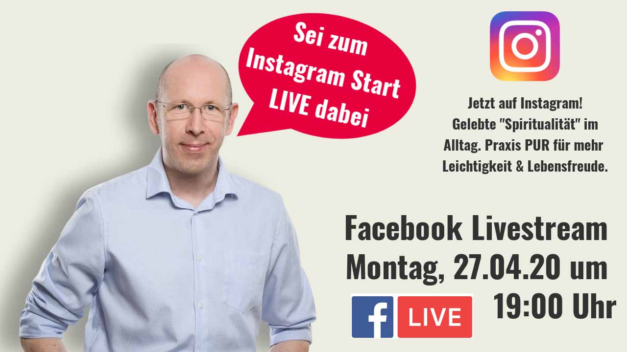 Start unseres Instagram Kanals mit Facebook Livestream